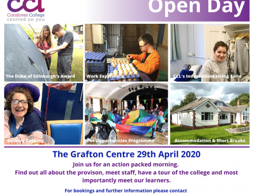 CCL's Open Day Wednesday 29th April 2020