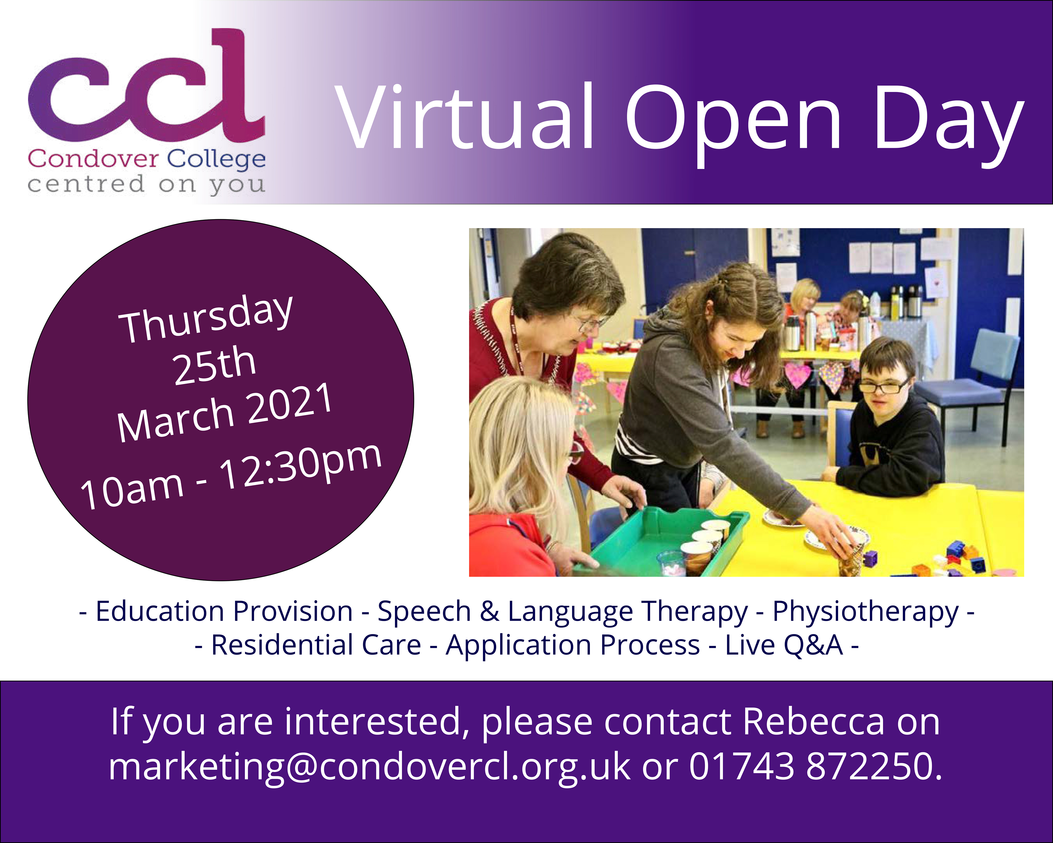 CCL's Virtual Open Day